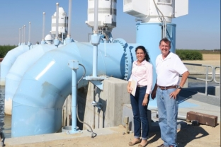 Dick Luthy and Isela Medina work for a sustainable water supply in CA