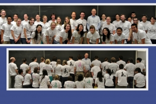 Jim's students commemorate retirement with custom t-shirts