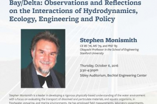 CEE Fall Distinguished Lecture given by Academy 2014 inductee Stephen Monismith