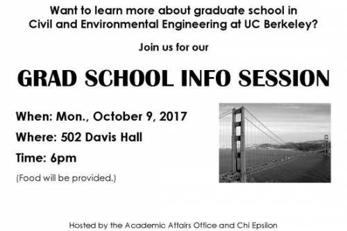 Grad School Info Night flyer