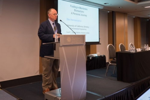 Slav Hermanowicz gives keynote lecture at Membrane Technology Conference
