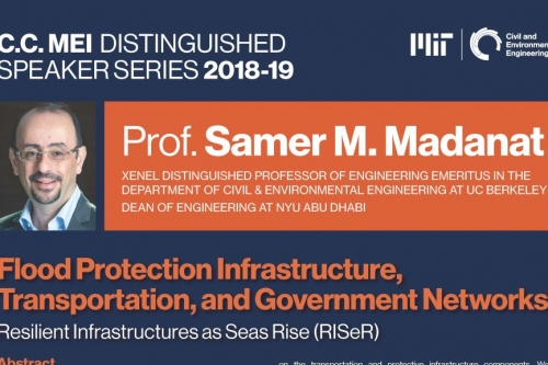 Poster of Samer Madanat's C.C. Mei Distinguished Lecture April 2019